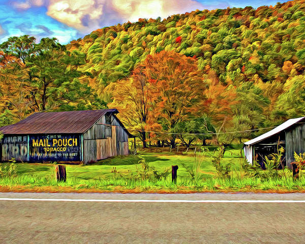 West Virginia Poster featuring the photograph Kindred Barns Painted by Steve Harrington