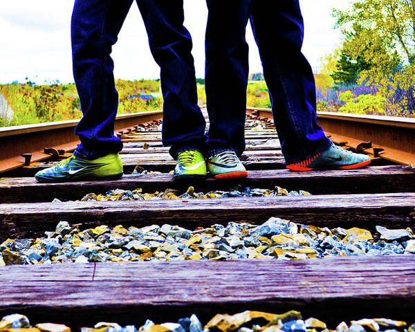 Train Poster featuring the photograph Kindred Ties by Ragina Kakos