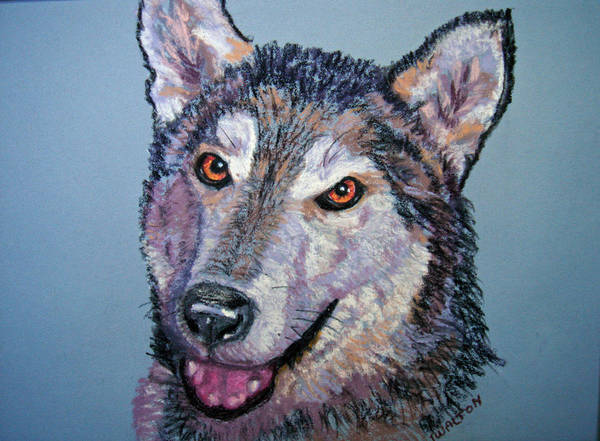Alaskan Malamute Poster featuring the painting King by Judy Fischer Walton