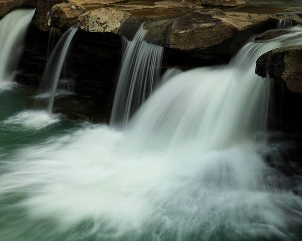 Landscape Poster featuring the photograph King River Falls In Spring by Iris Greenwell