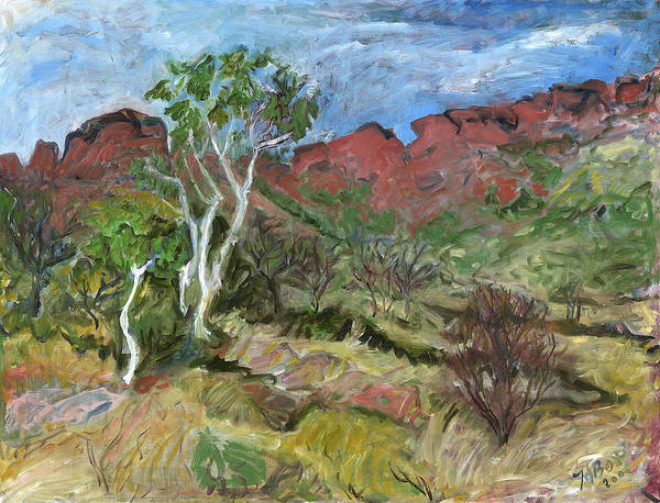 Australia Poster featuring the painting Kings Canyon by Joan De Bot