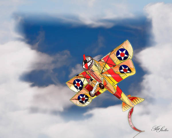 Airplane Poster featuring the digital art Kite Dreams by Patricia Stalter