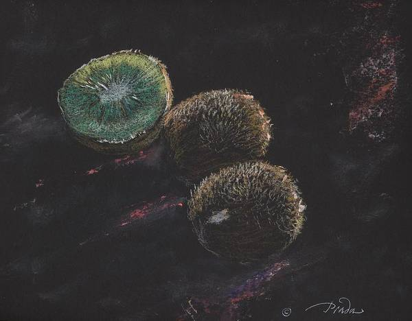 Pastel Poster featuring the painting Kiwis by Horacio Prada