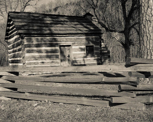 Lincoln Poster featuring the photograph Knob Creek Cabin by Mark Bowmer