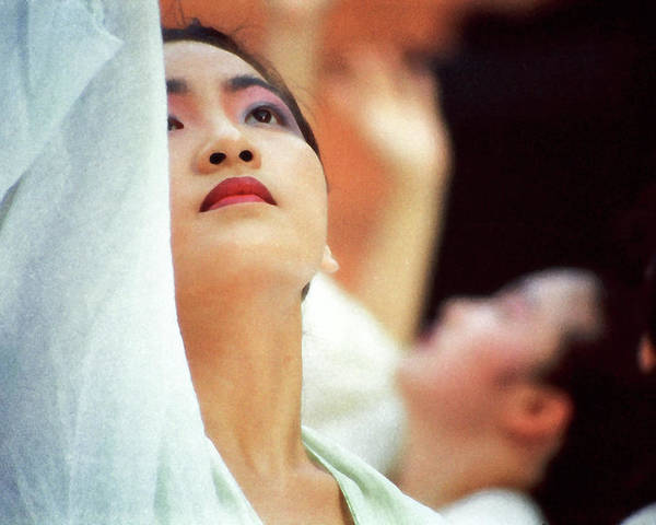 Woman Poster featuring the photograph Korean Dancers by T Monticello