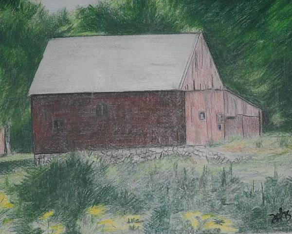 Barn Poster featuring the painting Krashes Barn by Debra Sandstrom