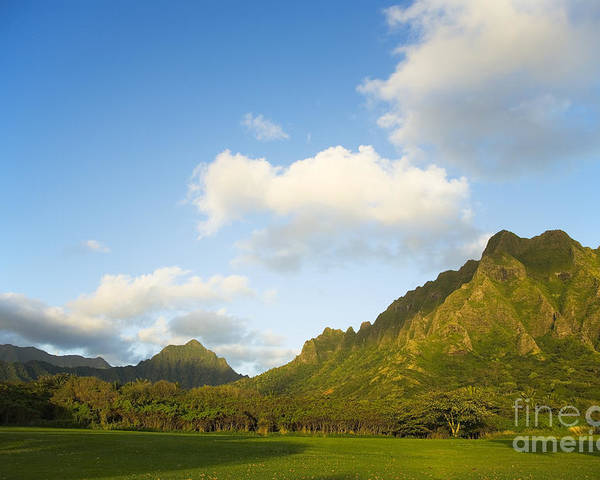 Bright Poster featuring the photograph Kualoa Ranch by Dana Edmunds - Printscapes