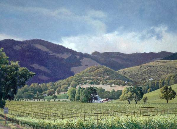 Kunde Winery Estate Poster featuring the painting Kunde by Paul Youngman