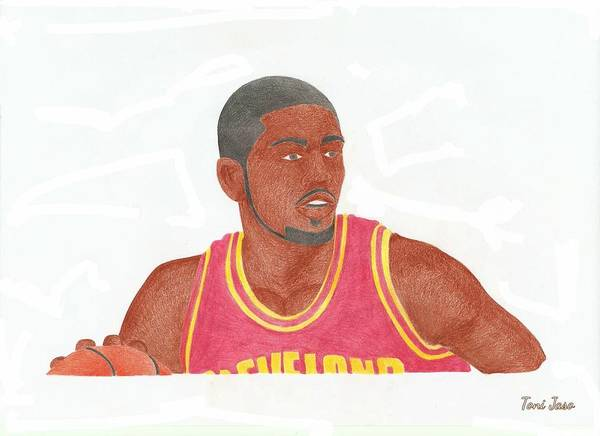 Basketball Poster featuring the drawing Kyrie Irving by Toni Jaso