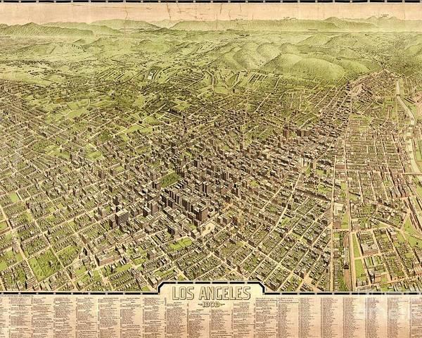 La Antique Map Poster featuring the photograph La Antique Map by Pd