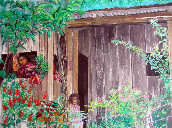 Shack Poster featuring the painting La Cabana by Sarah Hornsby
