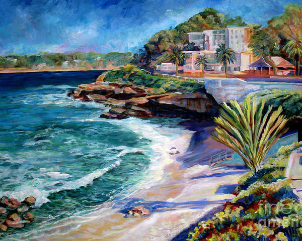 Seascape Poster featuring the painting La Jolla Cove by Nancy Isbell