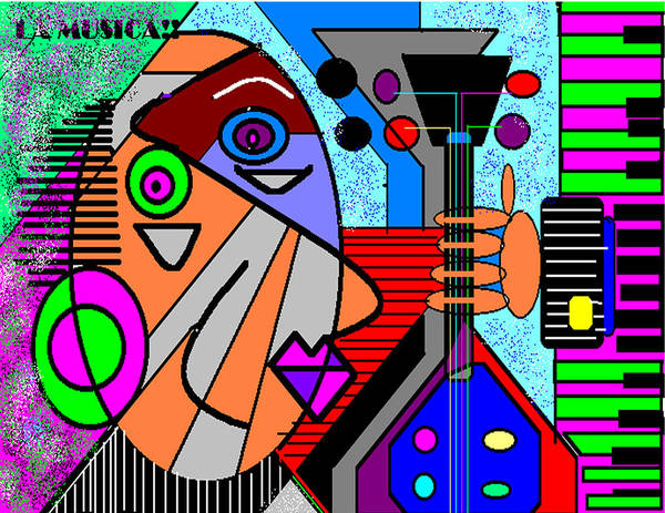 Music Poster featuring the digital art La Musica by George Pasini