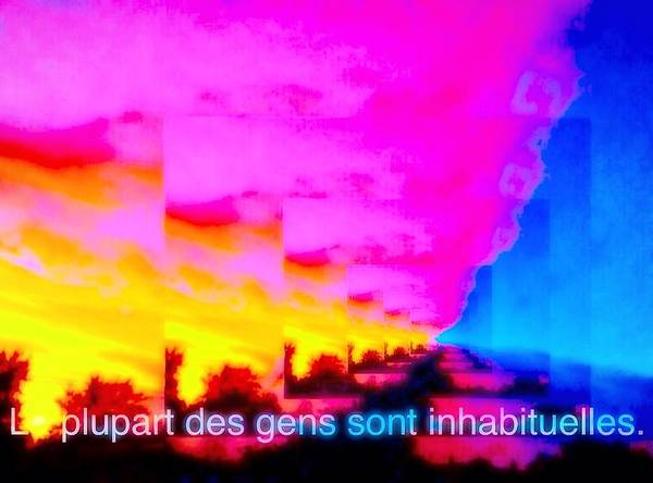 La Plupart Des Gens Sont Inhabituelles Most People Are Unusual Poster featuring the digital art La Plupart Des Gens Sont Inhabituelles / Most People Are Unusual by Contemporary Luxury Fine Art