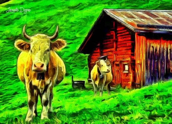 Animal Poster featuring the painting La Vaca by Leonardo Digenio