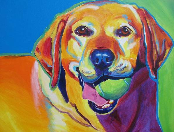 Labrador Poster featuring the painting Lab - Bud by Alicia VanNoy Call