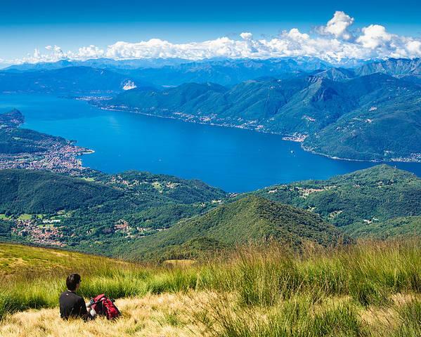 Lago Maggiore Poster featuring the photograph Lago Maggiore Italy Switzerland by Matthias Hauser