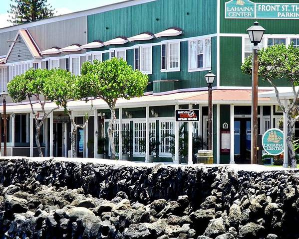 Lahaina Poster featuring the photograph Lahaina Center on Front Street by Kirsten Giving