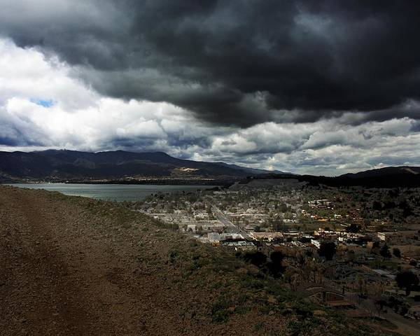 Landscape Poster featuring the photograph Lake Elsinore Waiting by Richard Gordon