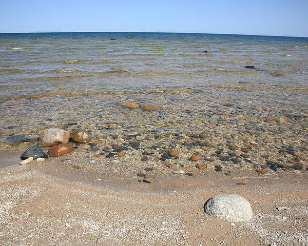America Poster featuring the photograph Lake Huron by Frank Romeo