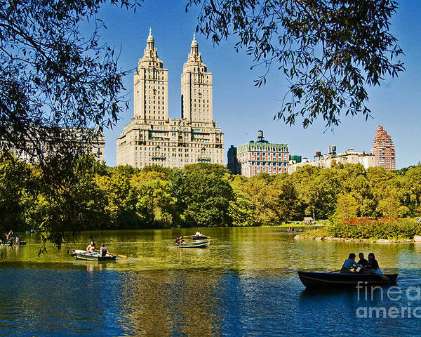 Central Park Poster featuring the photograph Lake In Central Park by Allan Einhorn