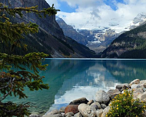 Lake Louise Poster featuring the photograph Lake Louise 2 by Larry Ricker