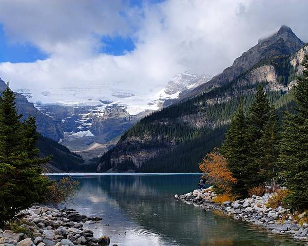 Lake Louise Poster featuring the photograph Lake Louise by Larry Ricker