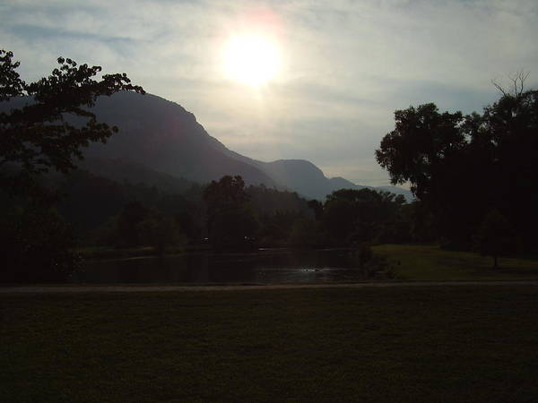 Lake Lure Poster featuring the photograph Lake Lure by Flavia Westerwelle