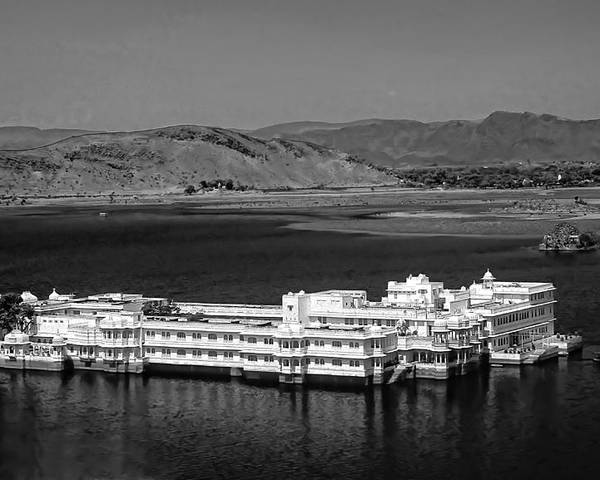 Hotel Poster featuring the photograph Lake Palace Hotel by Steve Harrington
