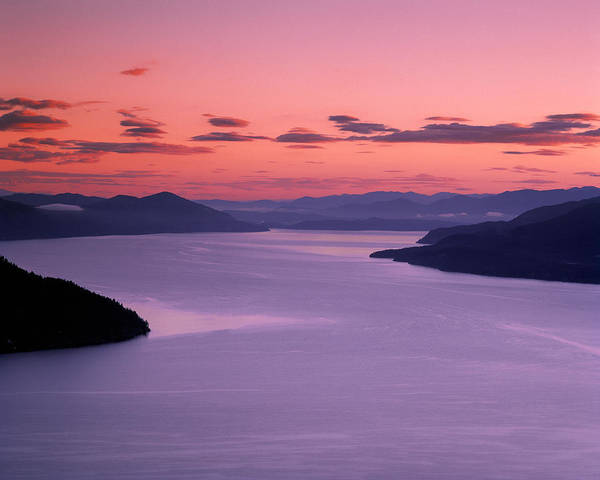 Lake Pend Oreille Poster featuring the photograph Lake Pend Oreille Sunset by Leland D Howard
