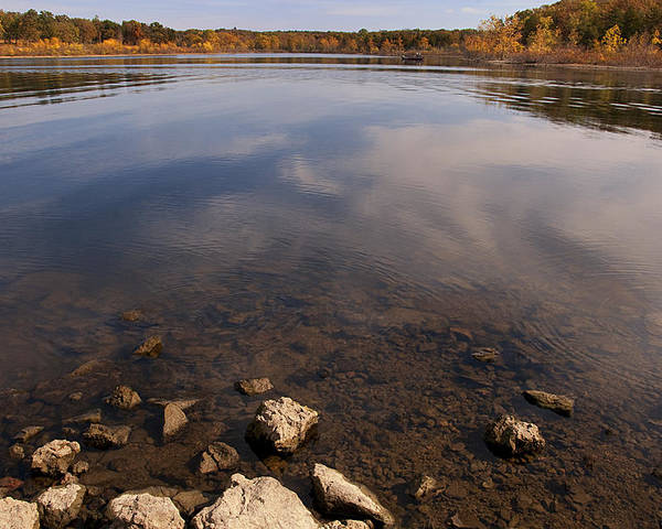 Lake Poster featuring the photograph Lake Pomme De Terre In October by Mitch Spence