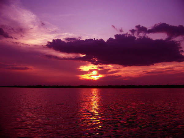 Sunset Photography Poster featuring the photograph Lake Sunset by Evelyn Patrick
