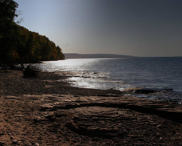 Water Poster featuring the photograph Lake Superior Shore by Frank Guemmer