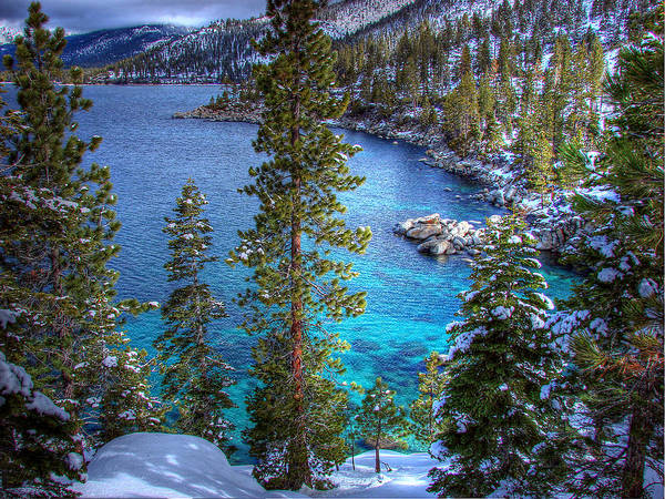 Lake Tahoe Poster featuring the photograph Lake Tahoe Winterscape by Scott McGuire