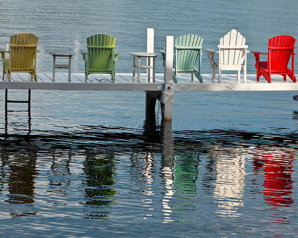 Lake Poster featuring the photograph Lakeside Living by Steve Gadomski
