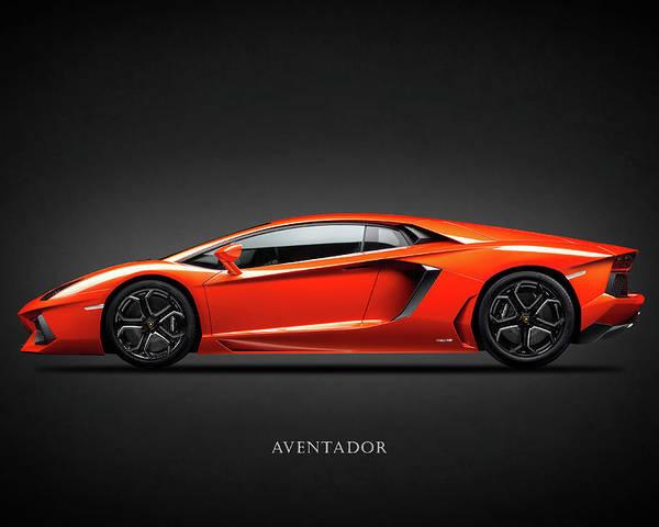 Lamborghini Aventador Poster By Mark Rogan