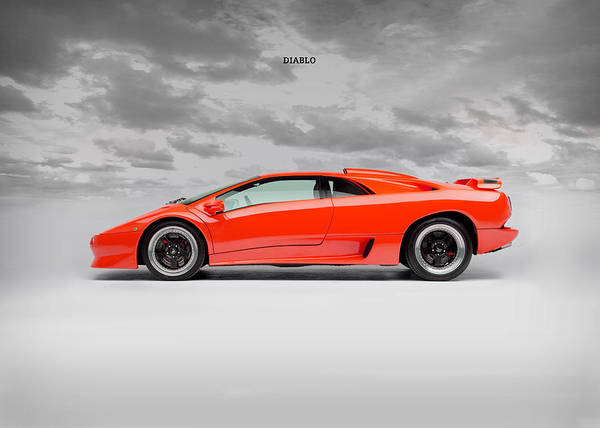 Lamborghini Diablo Sv Poster By Mark Rogan