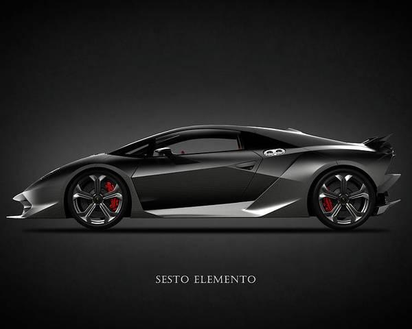 Lamborghini Sesto Elemento Poster By Mark Rogan