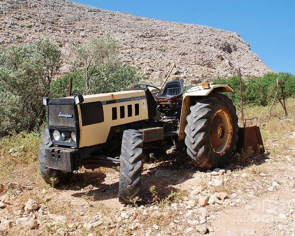 Lamborghini Tractor In Greece Poster