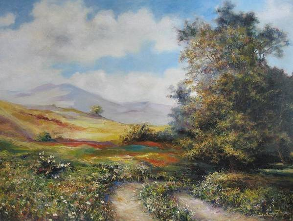Armenia Poster featuring the painting Landscape In Dilijan by Tigran Ghulyan