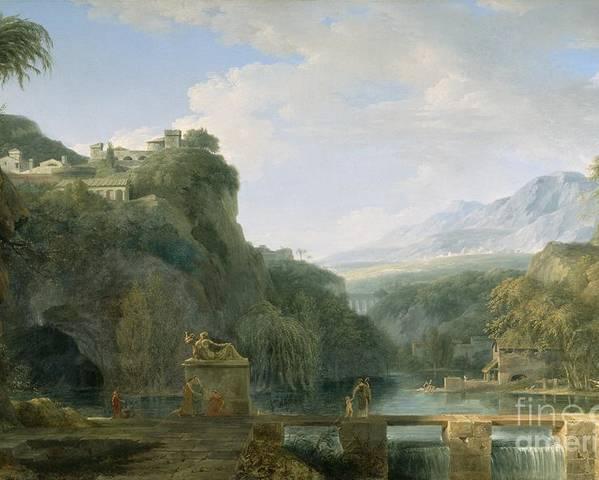 Landscape Poster featuring the painting Landscape Of Ancient Greece by Pierre Henri de Valenciennes
