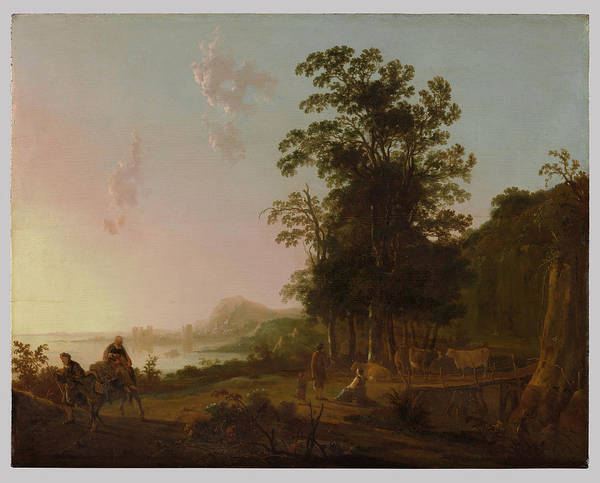 Landscape With The Flight Into Egypt Poster featuring the painting Landscape With The Flight by Aelbert Cuyp