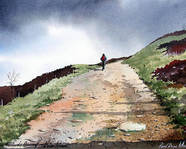 Landscape Poster featuring the painting Lane To Quarry Pole Moor by Paul Dene Marlor