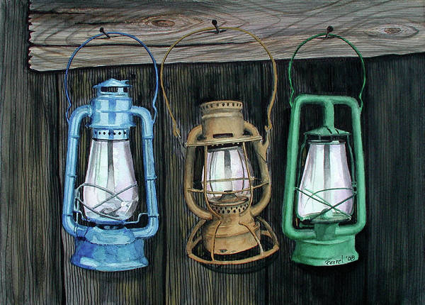 Lanterns Poster featuring the painting Lanterns by Ferrel Cordle