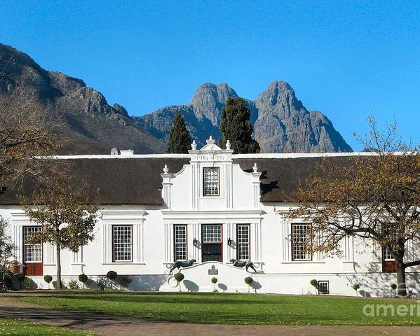 South Africa Poster featuring the photograph Lanzerac Stellenbosch by Heather Nel