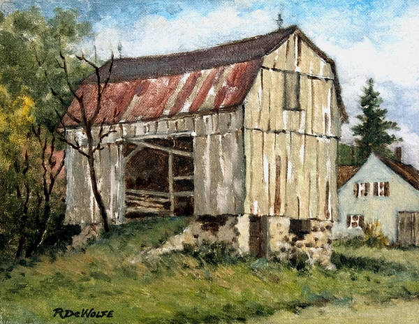 Barn Poster featuring the painting Last Legs by Richard De Wolfe