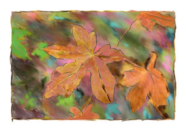Abstract Digital Art Poster featuring the photograph Last Of The Fall Leaves Abstract Digital Art by Sandy Belk