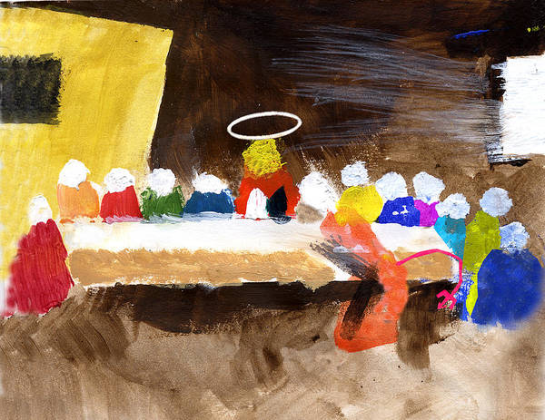 Jesus Poster featuring the mixed media Last Supper W-judas by Curtis J Neeley Jr