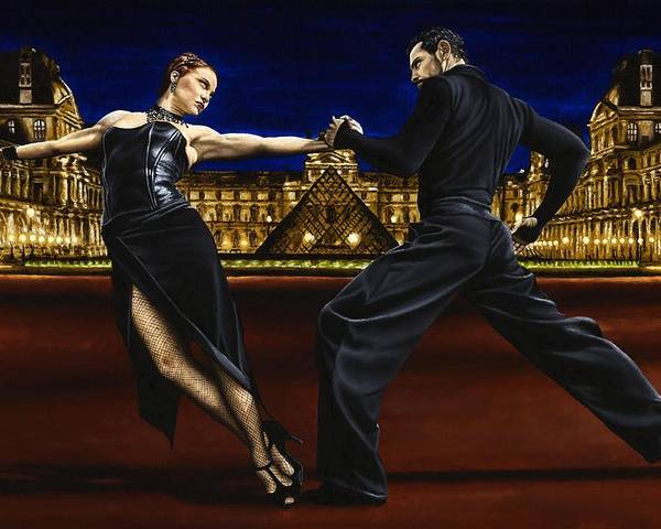 Tango Poster featuring the painting Last Tango In Paris by Richard Young
