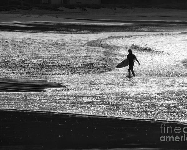 Surfer Poster featuring the photograph Last wave by Sheila Smart Fine Art Photography